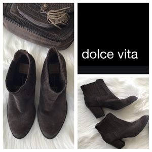 Dolce Vita Suede Brown Booties.